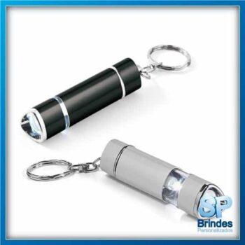 Chaveiro caneta e lanterna