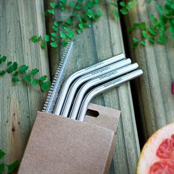 Embalagem Canudos de Metal KIT