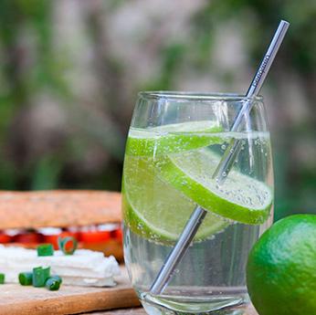 canudo metal personalizado reto para drink